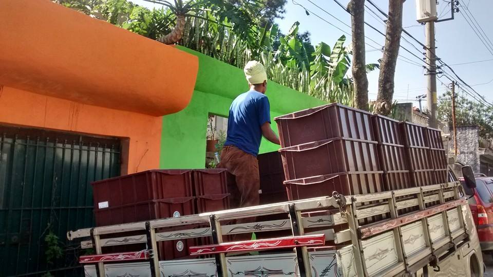 Delivery of compost kits to selected households