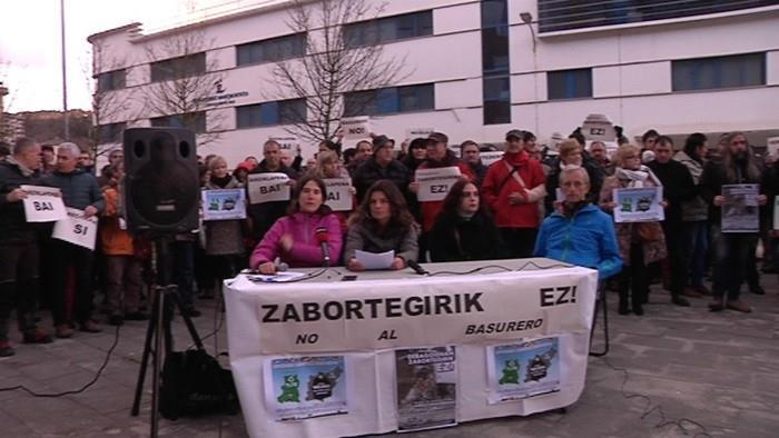 Zero waste activists hold press conference in Debagoiena, in the Basque Country