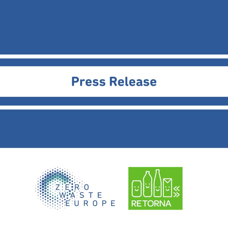 Press Release: El camino hacia el residuo cero pasa por la reutilización, el Sistema de Depósito de envases de bebidas y la recogida selectiva de calidad del 80% de la materia orgánica