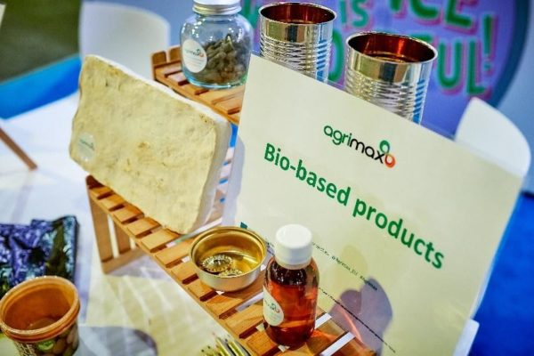 Bio-based products from food waste as part of BBI JU-funded AGRIMAX project.