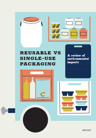 Reusable VS single-use packaging: a review of environmental impact