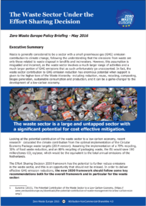 Front page of ESD policy briefing